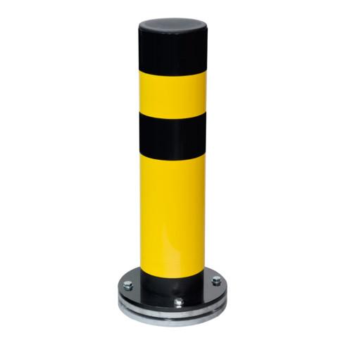 Moravia Rammschutz-Poller SWING, drehbar, Stahl,  gelb/schw., zum Aufdübeln, 159 mm