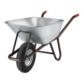 müba Tiefmuldenkarre Inhalt 90l auf Stahlfelge Bereifung Luftrad 400 x 100 mm