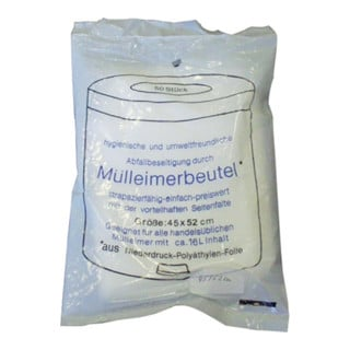 Müllbeutel 24l 7µm transparent 490x600mm 50St./Btl.
