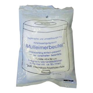 Müllbeutel 60l 7µm transparent 620x750mm 50St./a. Rolle