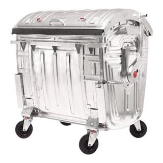 Müllgroßbehälter 1,1cbm Stahlblech verzinkt 131kg