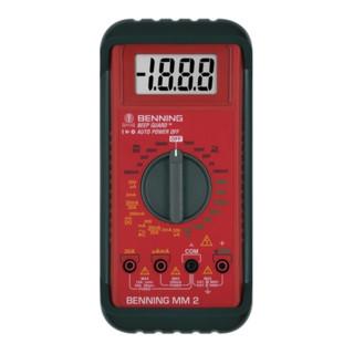 Multimeter 0,1 mV-1000 V DC 0,1 mV-750V AC m.Batterie/Messleitungen/Tasche MM 2