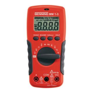 Multimeter 0,1 mV-1000V DC / 0,1mV-750V AC MM 1-3 Benning