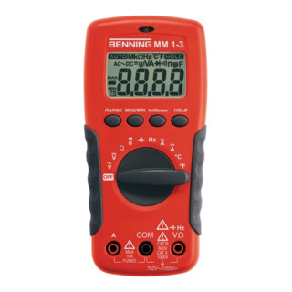 Multimeter 0,1 mV-1000V DC / 0,1mV-750V AC MM 1-3 Benning