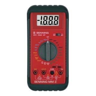 Multimeter 0,1 mV-600 V DC 0,1 mV-600 V AC m.Batterien/Messleitungen/Tasche MM 3