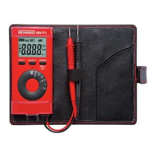 Multimeter 0,1 mV-600 V DC 0,1mV-600 V AC m.Batterien/Messleitungen/Etui MM P3
