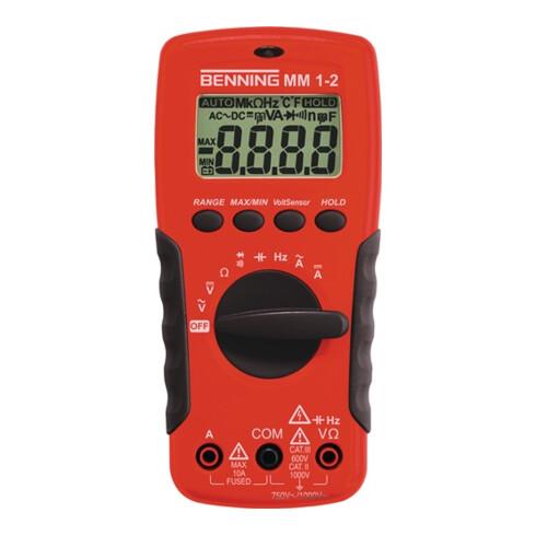 Multimeter MM 1-2 0,1 mV-750 V AC/0,1 mV-1000 V DC RMS BENNING