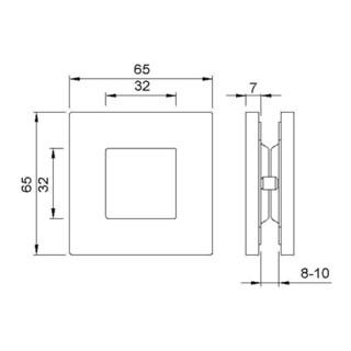 Muschelgr.5260 VA ma TS 8-10mm f.GLT L.65mm B.65mm KWS