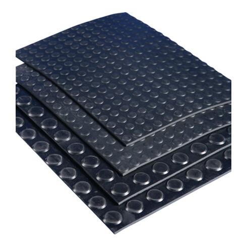 Natte à nopes plates en caoutchouc ElaQprem l. 1,20 m L. 10 m épaisseur 3 mm NR/