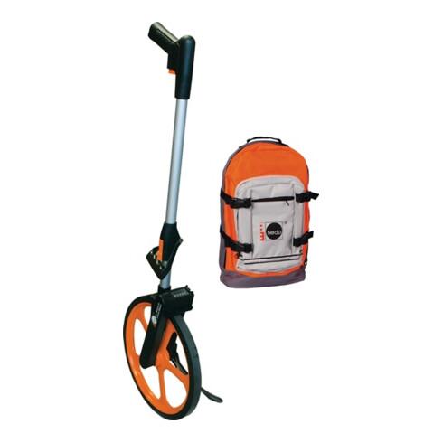 Nedo Leichtmessrad Econo, Radumfang 1 m, mit Trekking-Rucksack