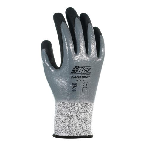 Nitras Handschuh-Paar 6360, OIL GRIP CUT, Handschuhgröße: 7