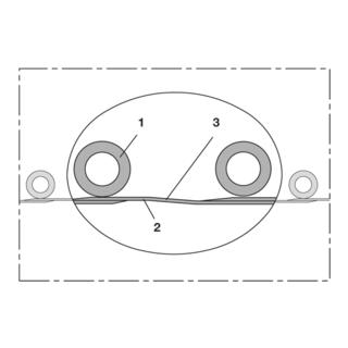 Norres Abgasschlauch überfahrbar (+200°C) Ø 76mm L: 10m PROTAPE® TPE 326 MEMORY