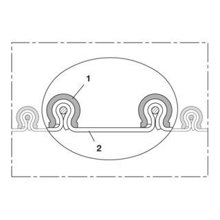 Norres Absaugschlauch chemikalienbeständig Ø: 610mm L: 3m CP PTFE-INOX 475 EC