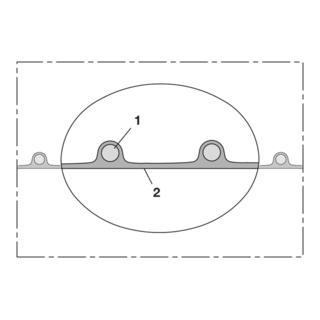 Norres Absaugschlauch leicht + antistatisch Ø 63mm L: 50m NORPLAST® PVC 383