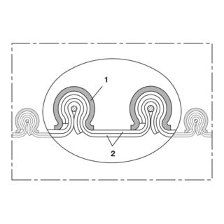 Norres Gewebeschlauch hitzebeständig (+170°C) Ø: 406mm L: 6m CP PTFE/HYP-INOX 472