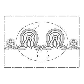 Norres Hochtemperaturschlauch hitzebeständig (+1100°C) Ø 140mm L: 3m CP HiTex 483