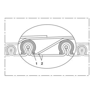 Norres Hochtemperaturschlauch hitzebeständig (+550°C) Ø: 375mm L: 3m CP HiTex 485