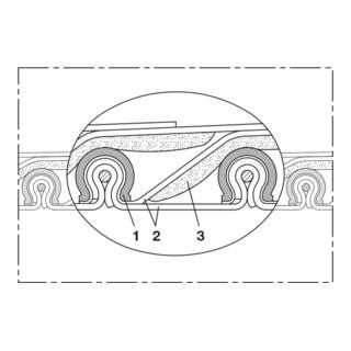 Norres Hochtemperaturschlauch hitzebeständig (+700°C) Ø: 215mm L: 3m CP HiTex 486