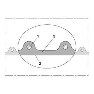 Norres Hochtemperaturschlauch schwer (+125°C) Ø 38mm L: 10m AIRDUC® PUR 355 HT transparent