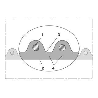 Norres Hochtemperaturschlauch superschwer +125°C Ø152 L:15m AIRDUC® PUR 356 HT