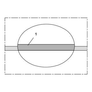 Norres Lebensmittelschlauch -60°C bis +180°C Ø 6mm L: 50m NORFLEX® SIL 408 Ø-Außen 10,0 mm