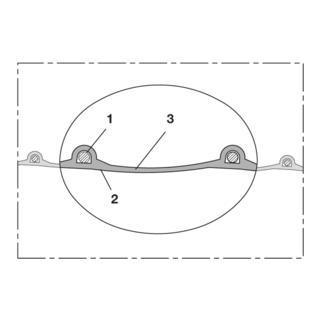 Norres Lebensmittelschlauch leicht Ø 75mm L: 5m PROTAPE® PUR-INOX 330 FOOD-AS