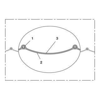 Norres Lüftungsschlauch abriebfest (+125°C) Ø 127mm L: 15m PROTAPE® PUR 370