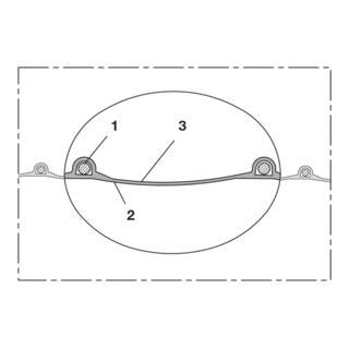 Norres Polyurethanschlauch superleicht, antist. Ø130 L:15m PROTAPE® PUR 301 AS