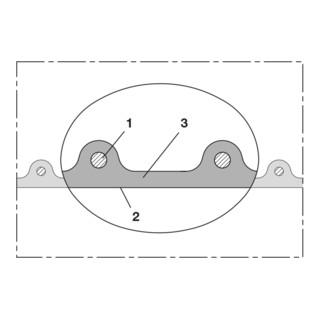Norres PU Förderschlauch leitfähig + schwer Ø 40mm L: 15m AIRDUC® PUR 355 EC
