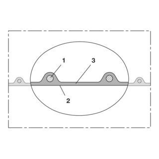 Norres PU Förderschlauch mittelschwer Ø 45mm L: 10m AIRDUC® PUR 350 AS