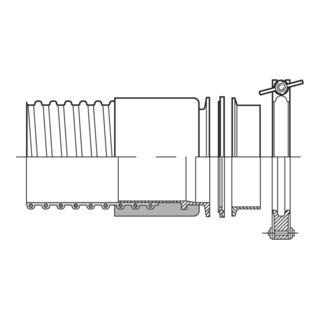 Norres TRI-Clamp Kupplung CONNECT 245 FOOD für Schlauch 356
