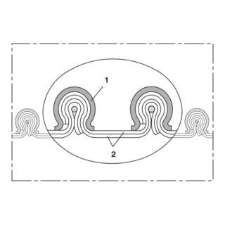 Norres Warmluftschlauch elektr. Leitfähig Ø: 1016mm L: 3m CP PTFE/GLASS-INOX 471 EC