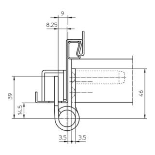 Objektband VARIANT VN 7729/160 STA m.vern.160kg 22,5mm DIN L/R stu.Tür