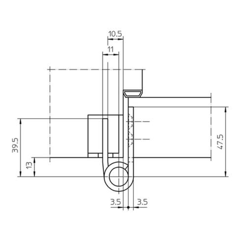 Objektband VARIANT VX 7729/100 VA ma geb.100kg 20mm DIN L/R stu.Tür