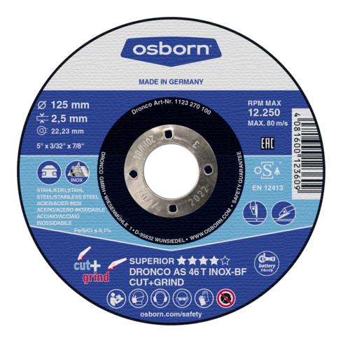 Osborn Kombi-Trenn- und Schruppscheibe AS46T Inox Cut+Grind