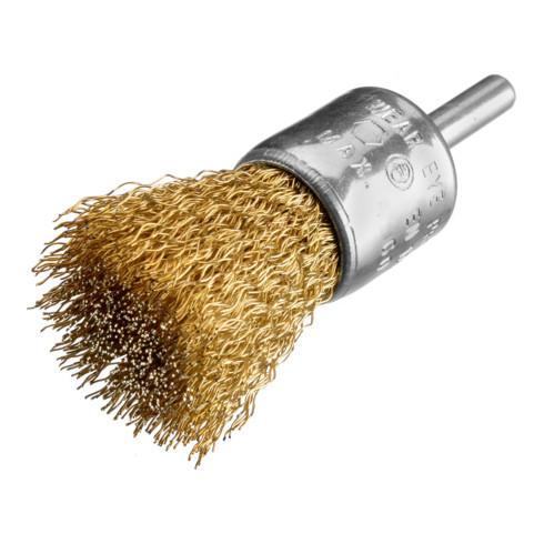 Osborn Pinselbürste D25, Schaft 6 mm, gewellter Messingdraht 0,30 mm T25