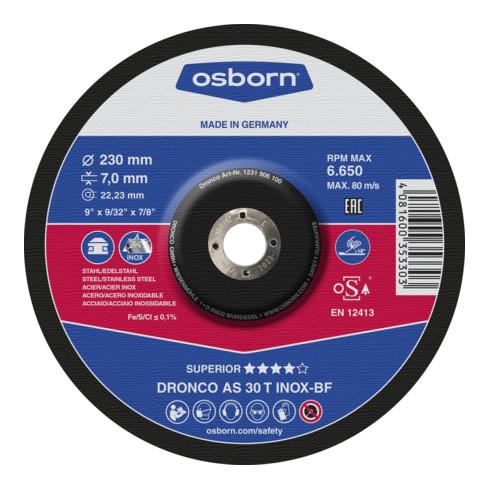 Osborn Premium-Schruppscheibe AS30T Inox