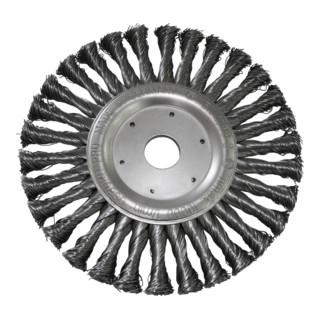 Osborn Rundbürste D178x13, Bohrung 22,2 mm, gezopfter Stahldraht 0,50 mm T42