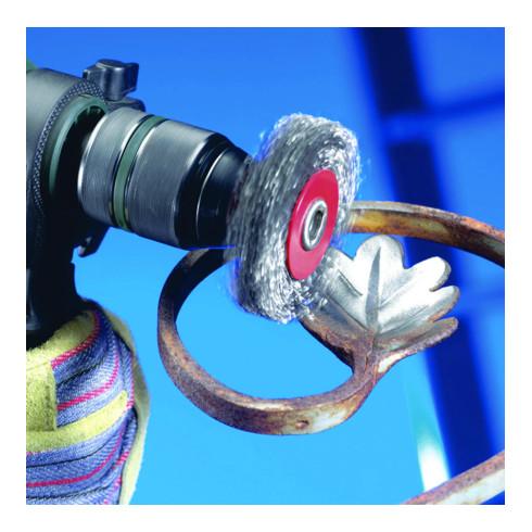 Osborn Werkzeugbürste D30x9, Schaft 6 mm, gewellter Stahldraht 0,20 mm T6