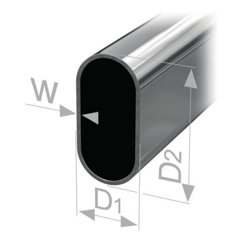 Ovalschrankrohr nahtl.geschw.STA verchr.H.30mm B.15mm Wandst.0,8mm 2500mm PG