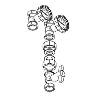 Oventrop Absperr-Set Optibal PK DN 25