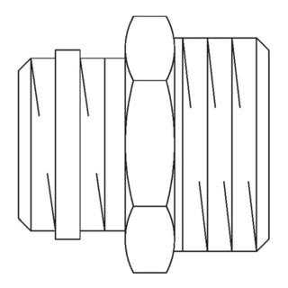 """Oventrop Einschraubstutzen R 1/2"""" AG x G 3/4"""" AG, Messing, vernickelt"""