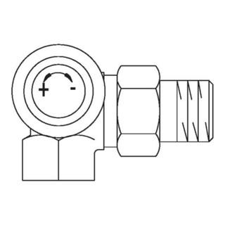Oventrop Thermostatventil Baureihe AV 9 M 30 x 1,5, PN 10, Winkel-Eck rechts, DN 10