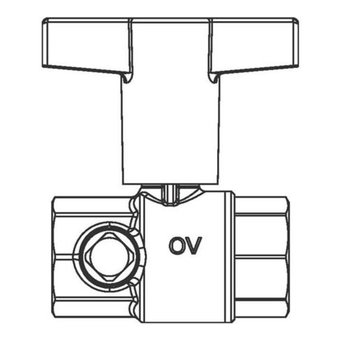 "Oventrop Trinkwasserkugelhahn Optibal TW 2 x IG DN 20, Rp 3/4"""