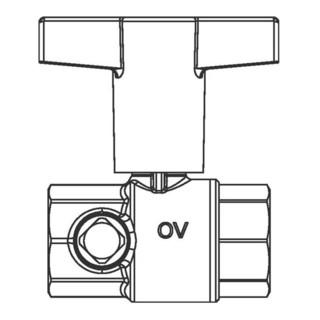 "Oventrop Trinkwasserkugelhahn Optibal TW 2 x IG DN 32, Rp 1 1/4"""