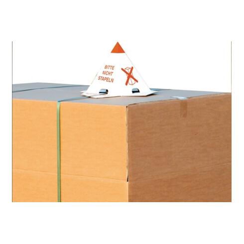 Palettenhütchen 1.25 Wellpappe L205xB205xH235mm einwellig 1-farbig rot
