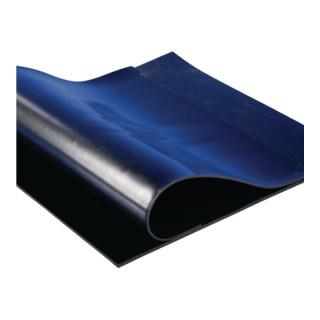 Panneau en caoutchouc l. 1,20 m L. 10 m épaisseur 2 mm NR/SBR avec insert de tis