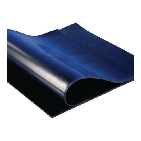 Panneau en caoutchouc l. 1,20 m L. 10 m épaisseur 5 mm NR/SBR avec insert de tis