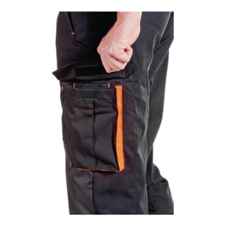 Pantalon à ceinture forestier softshell taille L noir/orange 96 % PES / 4 % EL