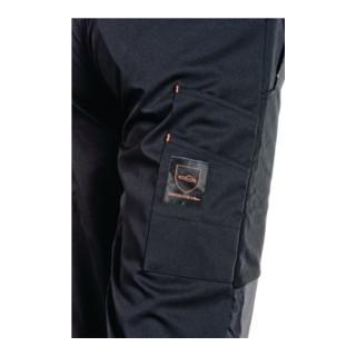Pantalon à ceinture forestier softshell taille XXXL noir/orange 96 % PES / 4 % E